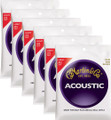 Martin M140 light gauge bronze wound acoustic guitar string set ( 6 set deal )