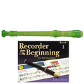 Yamaha  YRS20BG Descant School Recorder Translucent Green With Book 1