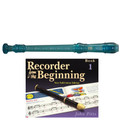Yamaha  YRS20BB Descant School Recorder Translucent Blue With Book 1