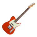 Fender 2016 Deluxe Nashville Telecaster Rosewood Guitar - fiesta Red