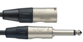 1 Metre Audio Cable - Mono 6.3mm Jack Plug To Male XLR Connector
