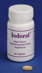 Iodoral 90 tablets.  Each tablet contains 12.5 mg of atomic iodine and iodine ion.  Tissues  need both types of iodine for optimal performance.