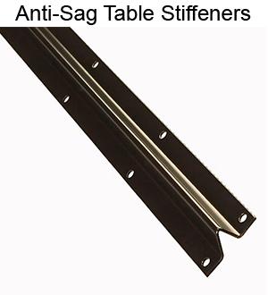 Anti-Sag Table Stiffeners