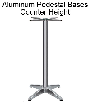 Aluminum Pedestal Bases - Counter Height