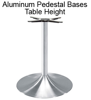Aluminum Pedestal Bases - Table Height