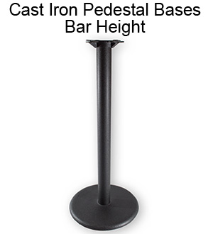 Cast Iron Pedestal Bases - Bar Height