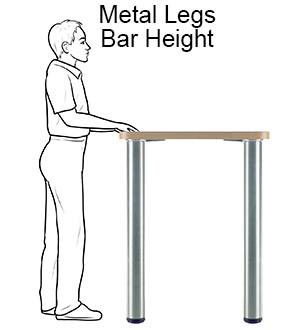 Metal Table Legs - Bar Height