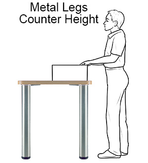 Metal Table Legs - Counter Height