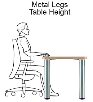 Metal Table Legs - Table Height