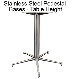 Stainless Steel Pedestal Bases - Table Height