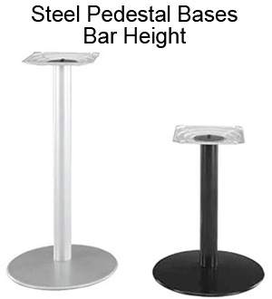 Steel Pedestal Bases - Bar Height