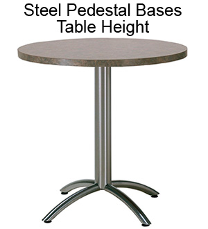 Steel Pedestal Bases - Table Height
