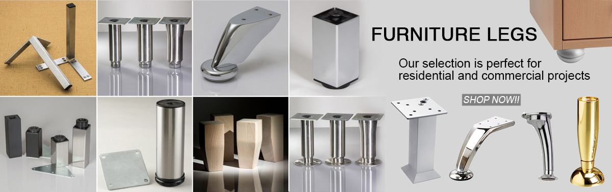 Furniture feet selection is suitable for both residential and commercial projects.