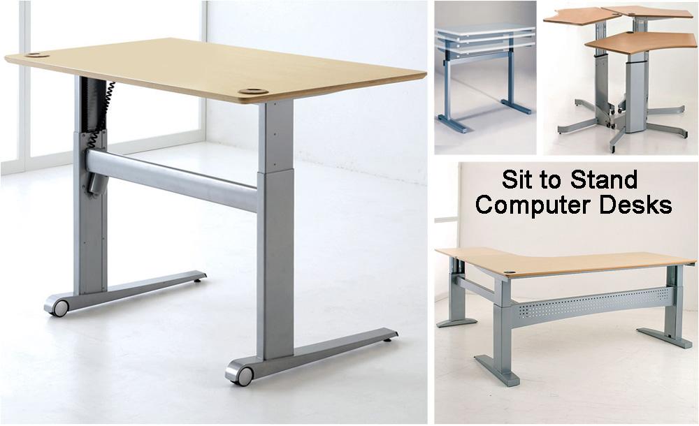 Height Adjustable Desks | Sit to Stand Computer Desks