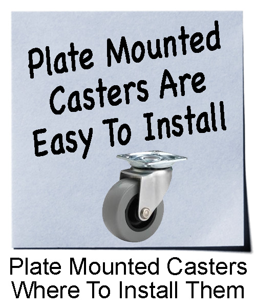 Plate Mounted Casters and Where to Install Them