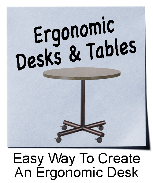 Rolling Metal Table Legs for Ergonomic Desks