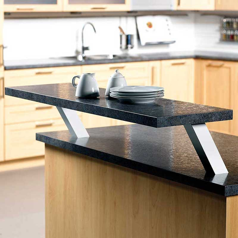 Square angled countertop support closet masters for Granite counter support