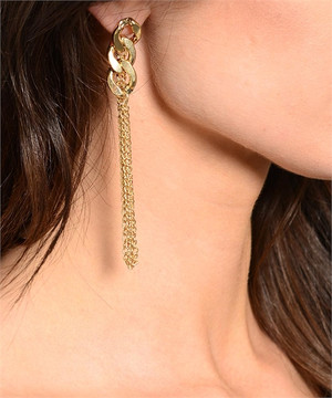 CHAIN LINK EARRING GOLD