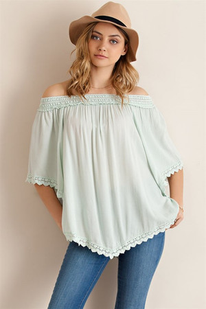 OFF THE SHOULDER BOHEMIAN TOP
