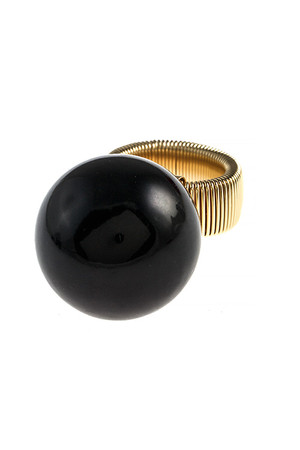 OVERSIZED BALL SNAKE CHAIN STRETCH RING