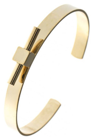 MODERNIST BAR POLISHED CUFF BRACELET GOLD