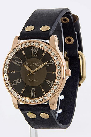 GENUINE LEATHER BAND ANTIQUE LOOK WATCH