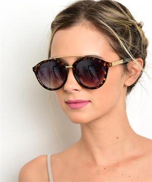 Round Great Gatsby Sunnies Havana (other colors)