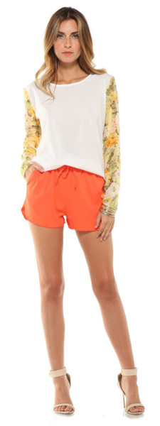 Lovers + Friends Adore Shorts Tangerine