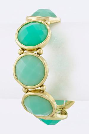 Round Faceted Jewel Bracelet