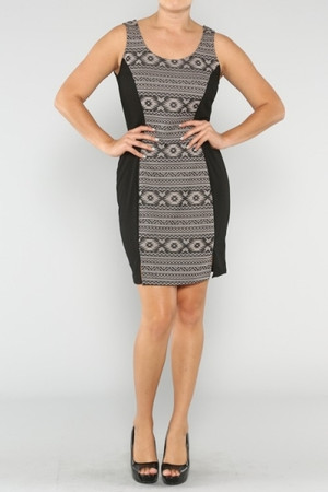 Tribal Print Plus Size Dress Out Of My Kloset