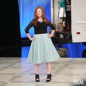 Faux Leather Pleat Soft Blue Skirt AKA (TheReal Ugly Skirt)