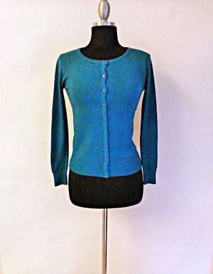 Button Down Sweater Teal