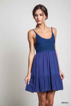 Crochet Fit & Flare Dress