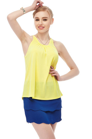 Canary Yellow Keyhole Tank Top