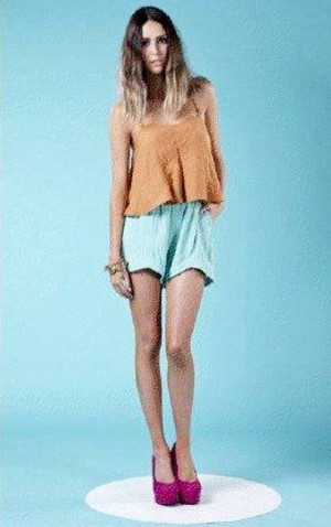 Finders Keepers Money Penny Mint Shorts