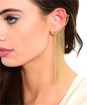 MULTI CHAIN DROP EARRING