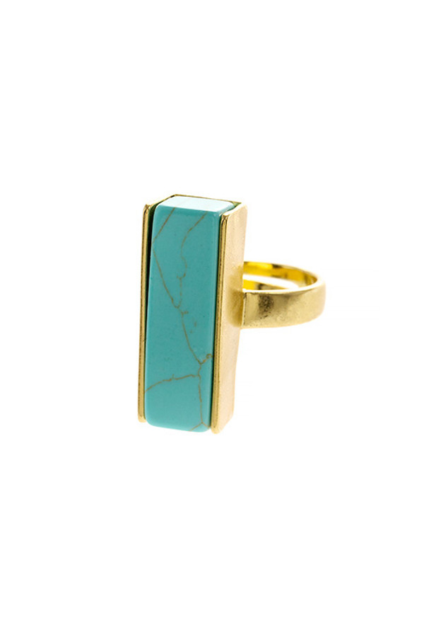 LINEAR FAUX STONE RING