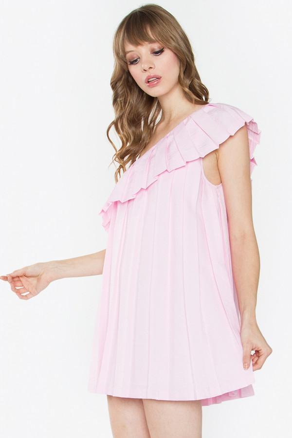 ADELISA ONE SHOULDER DRESS