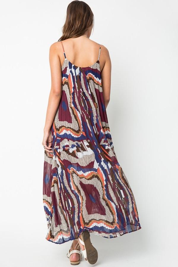 PLEATED MAXI CANCUN DRESS