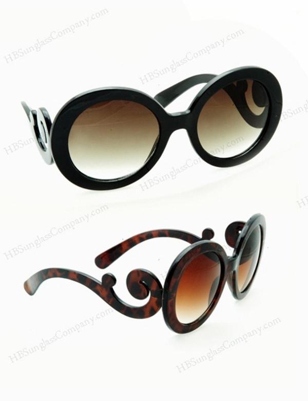 Baroque Round Sunglasses