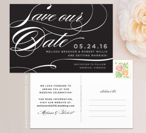 Sophisticated Script Save the Date