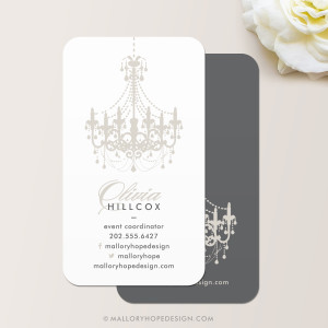 Event Planner Chandelier Business Card