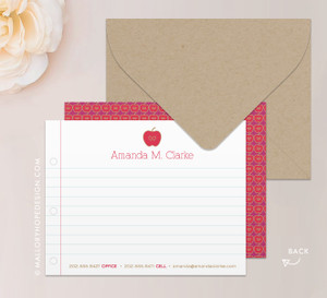 Teacher Stationery Note Card or Thank You Card