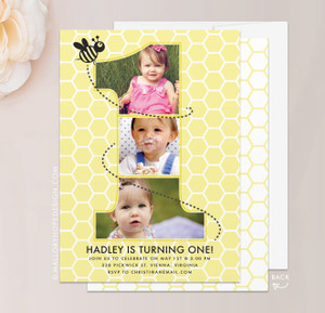 BumbleBee One Year Birthday Invitation