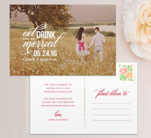 Eat, Drink & Be Married Photo Save the Date
