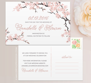 Cherry Blossoms Save the Date
