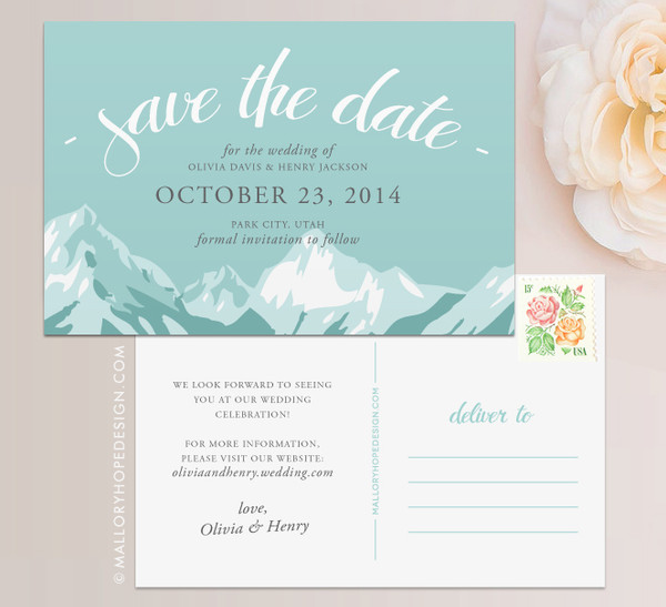Mountain Range Save the Date
