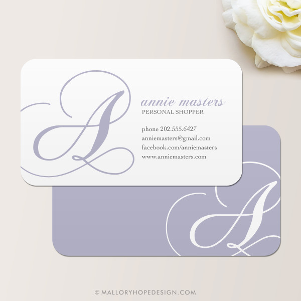 Decorative Initial Business Card