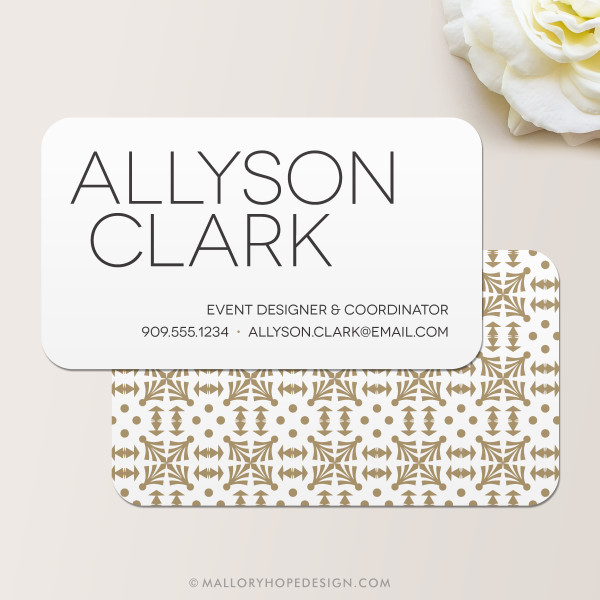 Bold Name Business Card