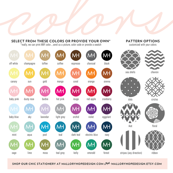 Mallory Hope Design Colors & Patterns